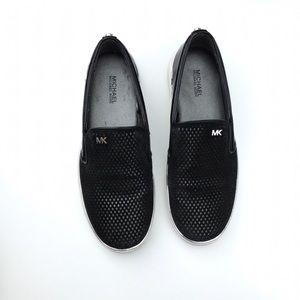 Michael Kors Suede Perforated Slip On Sneakers 6 M